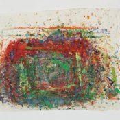 Maria Morganti, Impronta, Venezia, 2012, oil pastel and oil stick on paper, 49 x 60 cm. Courtesy OttoZoo