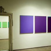 Maria Morganti, installation view at Fondazione Bevilacqua La Masa, 2006. Untitled, oil on canvas, 90 x 110 cm. Courtesy Otto Zoo