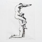 Jani Ruscica, S for Sepia, 2016, woodcut, 97x87 cm. Ed. 1 + 1AP. Courtesy Otto Zoo. Ph. Luca Vianello.