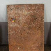 Maria Morganti, Nel Travertini #5, 2015, Pieve a Presciano, plasticine, travertine, 28 x 20 x 1 cm max. Courtesy Otto Zoo