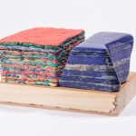 Maria Morganti, Stratificazione con lapislazzulo (blu e rossa), 2013, Venezia, plasticine, wood and laspislazzulo, 8,7 x 12,8 x 7 cm. Dimension of the base, 22 x 18 x 2,5 cm. Courtesy Otto Zoo