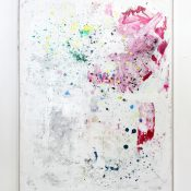 Tiziano Martini, Polenta Paintings, 2016, acrylics, dirt and monothype process on acrylic paint on primer on cotton, artist frame, 162 x 122 cm. Courtesy Achenbachhagemeier, Duesseldorf and Otto Zoo