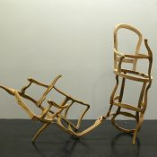 T-Yong Chung, Untitled, 2010, construction with abandoned chairs, 200 x 150 x 170 cm. Courtesy Otto Zoo