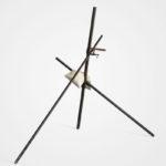 Benjamin Sabatier, Trépieds, 2011, metal, concrete, bench vise, 195x267x205cm. Courtesy Otto Zoo