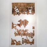 TSSR, Attraversare il paesaggio, Pelle_03, 2016, rust, mould, dirt on cotton, 300x175cm. Photo Elisa Bonura