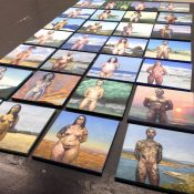 Sandro Kopp, Sono qui, 2014, installation view. Courtesy Otto Zoo