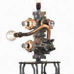 Giampiero Milella, 21, Alluminio, Rame, Ottone, Ferro, Pompe conta litri con base ricavata da bielle interne.19cm x 30cm x 75cm.
