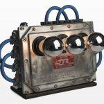 Giampiero Milella, 29, Alluminio, Ottone, Acciaio, Box derivazione cavi elettrici e rotelle di misurazione analogiche.24cm x 39cm x 60cm