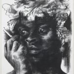 Gregory Forstner, Le Nouveau Bacchus 5, 2012, charcoal on paper, 140 x 107 cm. Courtesy Otto Zoo.