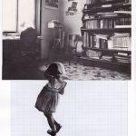 Nicoletta Dalfino Spinelli, 5 Migrazioni Familiari, 2011, archive image and cotton thread on drawing paper, 21x29 cm. Courtesy Otto Zoo.