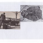Nicoletta Dalfino Spinelli, 6 Migrazioni Familiari, 2011, archive image and cotton thread on drawing paper, 21 x 29 cm. Courtesy Otto Zoo.