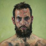 Sandro Kopp, The New Me #01, 2013, oil on linen, 50 x 50 cm. Courtesy Otto Zoo