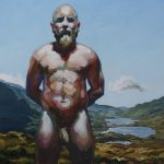 Sandro Kopp, There You Are, 2014, oil on linen, 50 x 50 cm, Isle of Mull. Courtesy Otto Zoo.