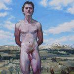 Sandro Kopp, There You Are, 2014, oil on linen, 50 x 50 cm, Scotland. Courtesy Otto Zoo.