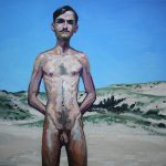 Sandro Kopp, You are there, Provincetown Dunes, 2014, oil on linen, 50 x 50 cm. Courtesy Otto Zoo