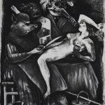 Gregory Forstner, Le Festin de Bacchus 1 , 2010, 235 x185 cm, charcoal on paper. Courtesy Otto Zoo