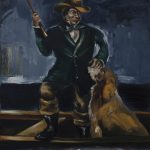 Gregory Forstner, The Cowboy, 2010, oil on linen, 250 x 200 cm. Courtesy Otto Zoo