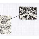 Nicoletta Dalfino Spinelli, 3 Migrazioni Familiari, 2011, archive image and cotton thread on drawing paper, 21 x 29 cm. Courtesy Otto Zoo