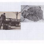 Nicoletta Dalfino Spinelli, 6 Migrazioni Familiari, 2011, archive image and cotton thread on drawing paper, 21 x 29 cm. Courtesy Otto Zoo