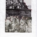 Nicoletta Dalfino Spinelli, Senza Titolo, 2011, archive image and cotton thread on paper, 29,5 x 21,5 cm. Courtesy Otto Zoo