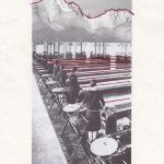 Nicoletta Dalfino Spinelli, Senza Titolo, 2012, archive image and cotton thread on paper, 29,5 x 19,5 cm. Courtesy Otto Zoo