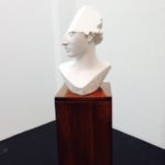 T-yong Chung, Traccia 1, 2014, modified plaster bust of Athena, 22 x 22 x 46 cm. Courtesy Otto Zoo