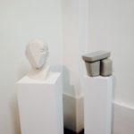 T-yong Chung, Traccia 7, Niccoli da Uzzano, 2014, plaster bust, 20 x 20 x 33 cm. Courtesy Otto Zoo