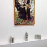 T-yong Chung, Untitled, 2012, c-print, ed. 1/3+ap, 104 x 81,5 cm(framed)_ Traccia IV, 2014, concrete sculpture, 13 x 14 x 21.5 cm_Traccia V, 2014, concrete sculpture, 10x10x36 cm_Traccia VI, 2014, concrete sculpture, 23 x 11 x 17,5 cm. Courtesy Otto Zoo
