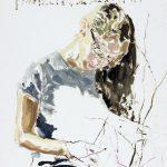 Gianluca Di Pasquale, La Lettrice, 2008, olio su carta, 50 x 36 cm. Courtesy Otto Zoo