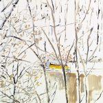 Gianluca Di Pasquale, Maloja Pass, 2008, olio su carta, 50 x 36 cm. Courtesy Otto Zoo
