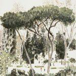 Gianluca Di Pasquale, Passegiata Romana, 2008, olio su carta 50 x 36 cm. Courtesy Otto Zoo