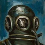 Gregory Forstner, Study for a Diver 2, 2008, oil on canvas, 63 x 50 cm. Courtesy Otto Zoo