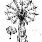 Paul Himmel, Coney Island Parachute Jump, gelatin silver print, 50 x 40 cm, signed(framed). Courtesy Otto Zoo