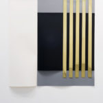 Meris Angioletti, L'anello e il libro - partizione 2, 2017, linoleum, brass, ed. 1/3, 150 x 150 cm. Courtesy Otto Zoo, ph. Luca Vianello