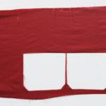 Marion Baruch, Teatro Rosso, 2013, silk, 45 x 150 cm ca. Courtesy Otto Zoo. Ph Luca Vianello