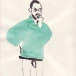 Gosia Turzeniecka, marco1 2018 - watercolor on paper - 32 x 22,5 cm. Courtesy Otto Zoo