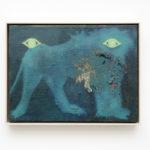 Alessandro Fogo, Cave Canem, 2017-2018, oil on jute, framed, 30x40 cm. Courtesy Otto Zoo. Ph. Luca Vianello