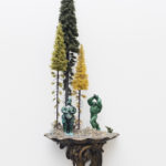 Sebastiano Mauri, Untitled - Gods versus Aliens, 2018, mixed media, 22x70 cm. Courtesy Otto Zoo. Ph. Luca Vianello