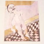 Sebastien Notre, Tired but Alive, 2018, acrylic on paper, 45x56 cm. Courtesy Otto Zoo.