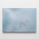 OZ_Davide Rivalta, Lupo, 2018, oil and paper tape on canvas, 67 x 96 cm. Courtesy Otto Zoo. Ph. Luca Vianello.