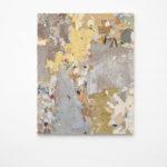 Franco Arocha, Diferentes puertas y reflexiones sobre arquitectura fascista, 2019, paint fragments on wooden panel, 120x150 cm. Courtesy Otto Zoo. Ph. Luca Vianello