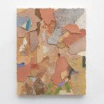 Franco Arocha, Standing walls (Roma), 2019, paint fragments on wooden panel, 50x40 cm. Courtesy Otto Zoo. Ph. Luca Vianello