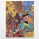 Franco Arocha, Why no one goes to Naples (Napoli), 2019, paint fragments on wooden panel, 50x40 cm. Courtesy Otto Zoo. Ph. Luca Vianello