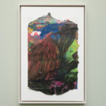Tiziano Martini, 2019, Untitled #2, acrylics on paper, cardboard, wooden frame, 40x30 cm. Courtesy Otto Zoo. Ph. Luca Vianello