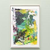 Tiziano Martini, Untitled, 2019, acrylics on paper, cardboard, wooden frame, 60x40 cm. Courtesy Otto Zoo. Ph. Luca Vianello