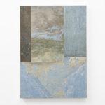 Stefano Comensoli_Nicolò Colciago, Visioni di un oltre - Ciel sereno, 2020, flooring (linoleum), 89x63,5x4 cm. Courtesy Otto Zoo. Ph. Luca Vianello