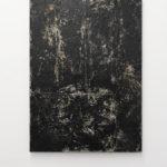 Stefano Comensoli_Nicolò Colciago, Chiarore, 2020, bitumen, white concrete, 160,5x116,5x4 cm. Courtesy Otto Zoo. Ph. Luca Vianello